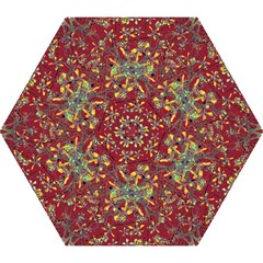 Oriental Floral Print Mini Folding Umbrellas by dflcprints