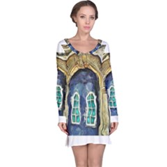 Luebeck Germany Arched Church Doorway Long Sleeve Nightdresses