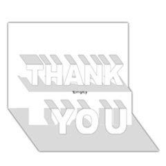 Usa States Flag Thank You 3d Greeting Card (7x5)  by theimagezone