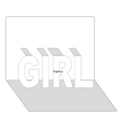 Usa States Flag Girl 3d Greeting Card (7x5)  by theimagezone