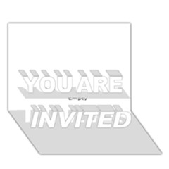 Usa States Flag You Are Invited 3d Greeting Card (7x5)  by theimagezone
