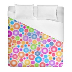 Candy Color s Circles Duvet Cover Single Side (twin Size) by KirstenStar