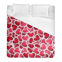Candy Hearts Duvet Cover Single Side (twin Size) by KirstenStar