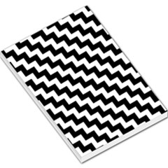 Black And White Zigzag Large Memo Pads