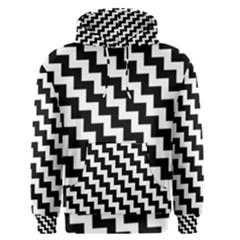 Black And White Zigzag Men s Pullover Hoodies by ElenaIndolfiStyle