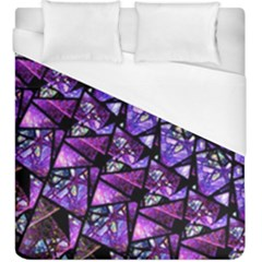 Blue Purple Shattered Glass Duvet Cover Single Side (kingsize)
