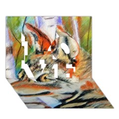 Wolfpastel Love 3d Greeting Card (7x5)  by LokisStuffnMore