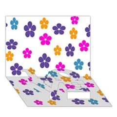Candy Flowers Love Bottom 3d Greeting Card (7x5)