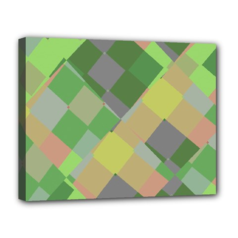 Squares And Other Shapes Canvas 14  X 11  (stretched) by LalyLauraFLM