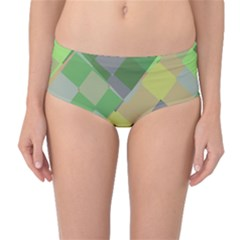 Squares and other shapes Mid-Waist Bikini Bottoms