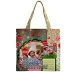 xmas - Zipper Grocery Tote Bag