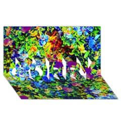 The Neon Garden Sorry 3d Greeting Card (8x4)  by rokinronda