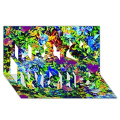The Neon Garden Best Wish 3d Greeting Card (8x4)