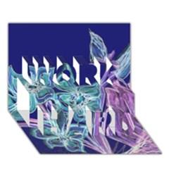 Bluepurple Work Hard 3d Greeting Card (7x5)  by rokinronda