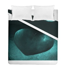 Teal Heart Duvet Cover (Twin Size) by timelessartoncanvas