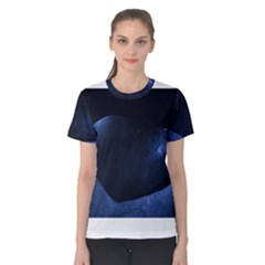 Blue Heart Collection Women s Cotton Tees by timelessartoncanvas