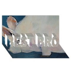 Piggy No. 2 BEST BRO 3D Greeting Card (8x4)  by timelessartoncanvas