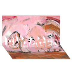 Piggy No 3 Engaged 3d Greeting Card (8x4)