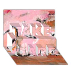 Piggy No 3 Take Care 3d Greeting Card (7x5)