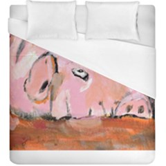 Piggy No 3 Duvet Cover Single Side (kingsize) by timelessartoncanvas