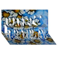 Floating On Air Happy Birthday 3d Greeting Card (8x4)  by timelessartoncanvas