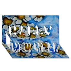 Floating On Air Happy New Year 3d Greeting Card (8x4)  by timelessartoncanvas