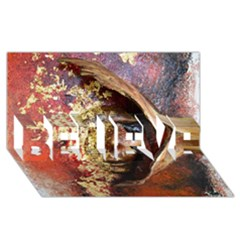 Red Mask Believe 3d Greeting Card (8x4)  by timelessartoncanvas