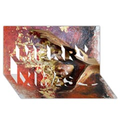 Red Mask Merry Xmas 3d Greeting Card (8x4)  by timelessartoncanvas