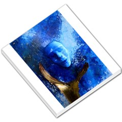 Blue Mask Small Memo Pads by timelessartoncanvas
