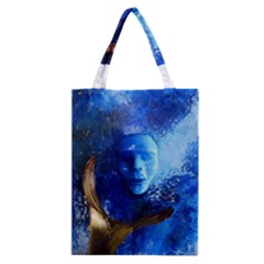 Blue Mask Classic Tote Bags