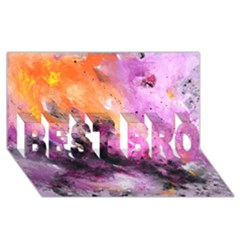 Nebula Best Bro 3d Greeting Card (8x4)