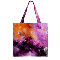 Nebula Zipper Grocery Tote Bags by timelessartoncanvas