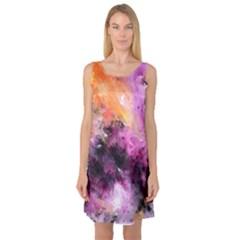 Nebula Sleeveless Satin Nightdresses by timelessartoncanvas