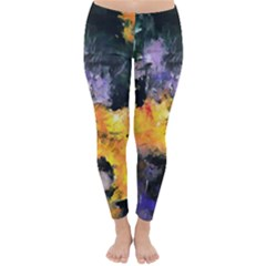 Space Odessy Winter Leggings by timelessartoncanvas