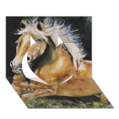 Mustang Heart 3d Greeting Card (7x5)  by timelessartoncanvas