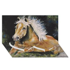 Mustang Twin Heart Bottom 3d Greeting Card (8x4)  by timelessartoncanvas