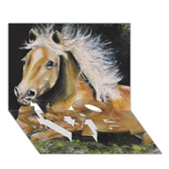 Mustang Love Bottom 3d Greeting Card (7x5)  by timelessartoncanvas