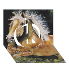 Mustang Peace Sign 3d Greeting Card (7x5)  by timelessartoncanvas