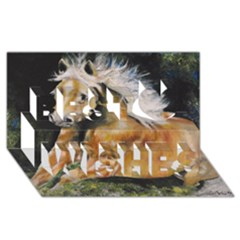 Mustang Best Wish 3d Greeting Card (8x4)  by timelessartoncanvas