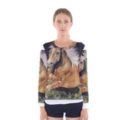 Mustang Women s Long Sleeve T Shirts by timelessartoncanvas