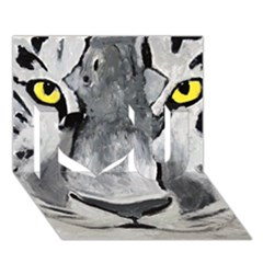 The Eye Of The Tiger I Love You 3d Greeting Card (7x5)  by timelessartoncanvas