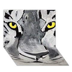 The Eye Of The Tiger Circle Bottom 3d Greeting Card (7x5)