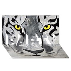 The Eye Of The Tiger Party 3d Greeting Card (8x4)  by timelessartoncanvas