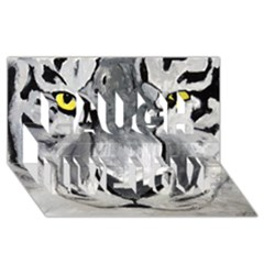 The Eye Of The Tiger Laugh Live Love 3d Greeting Card (8x4)  by timelessartoncanvas
