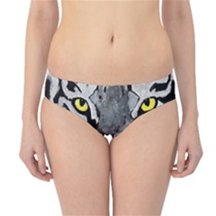 The Eye Of The Tiger Hipster Bikini Bottoms by timelessartoncanvas