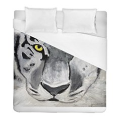 The Eye Of The Tiger Duvet Cover Single Side (twin Size) by timelessartoncanvas