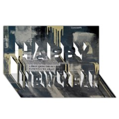 The Dutiful Rise Happy New Year 3D Greeting Card (8x4)