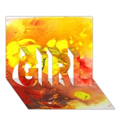 Fire, Lava Rock Girl 3d Greeting Card (7x5)  by timelessartoncanvas