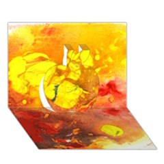 Fire, Lava Rock Apple 3d Greeting Card (7x5)  by timelessartoncanvas