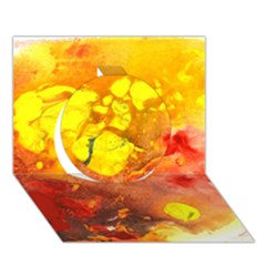 Fire, Lava Rock Circle 3d Greeting Card (7x5)  by timelessartoncanvas